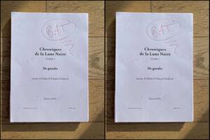 Bon à tirer BAT Les Chroniques de la Lune Noire tome 1 De gueules Jeanne-A Debats François Froideval éditions Leha
