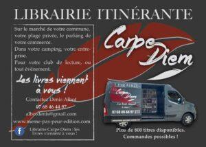 Carpe Diem librairie itinérante Denis Albot