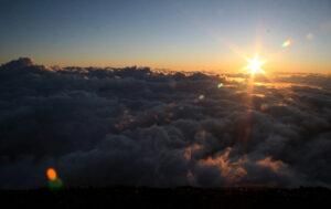 Fuji-san aube lever soleil aurore
