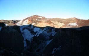 Montagne Fuji cratère
