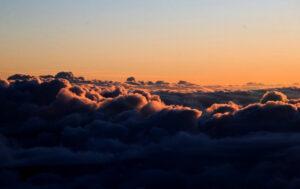 Fuji nuages matin